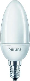 Philips 40524700 Energiesparlampe Softone Candle 5W WW E14 220-240V 1PF/6