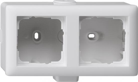 gira 006227 aufputz geh use 2fach standard 55 reinwei. Black Bedroom Furniture Sets. Home Design Ideas