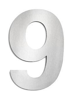 cmd edelstahl hausnummer 9 gro g9. Black Bedroom Furniture Sets. Home Design Ideas